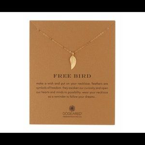 NEW Dogeared14K Gold Plated Angel Wing Necklace